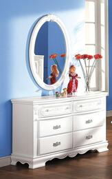 01685DM Flora 2 PC Set Dresser + Mirror in White Finish