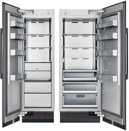 "54"" Panel Ready Side-by-Side Column Refrigerator Set with DRZ24980LAP 24"" Left Hinge Freezer, and DRR30980RAP 30"" Right Hinge Refrigerator"