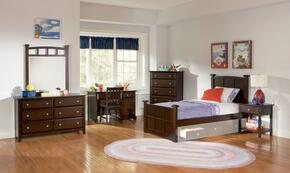 400751TSET5 Jasper 5 Pc Twin Bedroom Set in Cappuccino Finish (Bed, Nightstand, Dresser, Mirror, and Chest)