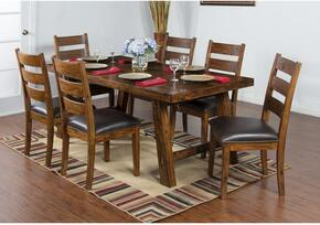Tuscany Collection 1367VMDT6C 7-Piece Dining Room Set with Dining Table and 6 Chairs in Vintage Mocha Finish
