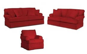 Emily 6262QGSLC/4022-65 3-Piece Living Room Set with Queen Good Night Sleeper, Loveseat and Chair in 4022-65 Red