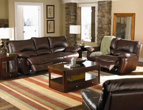 Clifford 600281SET 3 PC Living Room Set with Motion Sofa + Motion Loveseat + Recliner in Dark Brown Color