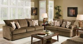 1836531661SL Calexico Sofa + Loveseat with 4 Toss Pillows, 16 Gauge Border Wire, Hi-Density Foam Cores, Dacron Wrap Polyester Cushions and Sinuous Springs in Cornell Cocoa