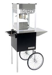 """1108710 8-Oz. 20"""" Professional Series Popcorn Machine with Commercial Grade Stainless Steel Construction, Built-in Warming Deck and Popcorn Cart"""