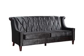 LC844BLACK2PCSETSL Barrister Transitional Style 2 Piece Livingroom Set, Sofa and Loveseat with Wooden Feet Finish and Button-tufted Detail in Black