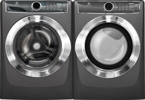 "Titanium Front Load Laundry Pair with EFLS617STT 27"" Washer and EFMG617STT 27"" Gas Dryer"