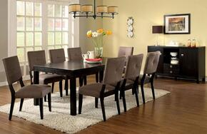 Bay Side I Collection CM3311T8SCSV 10-Piece Dining Room Set with Rectangular Table, 8 Side Chairs and Server in Espresso