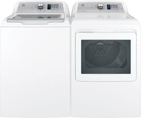 """White Top Load Laundry Pair with GTW685BSLWS 27"""" Washer and GTD75GCSLWS 27"""" Gas Dryer"""