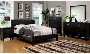 Winn Park Collection CM7008FBDMCN 5-Piece Bedroom Set with Full Bed, Dresser, Mirror, Chest, and Nightstand in Espresso Color