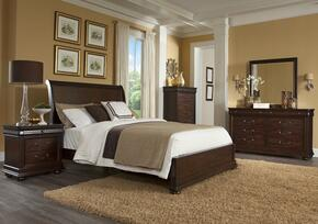 Parkview 398KSBDMN 4-Piece Bedroom Set with King Sleigh Bed, Dresser, Mirror and Nightstand in Bourbon Color