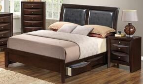 G1525DDFSB2NCH 3 Piece Set including  Full Size Bed, Nightstand and Chest  in Cappuccino