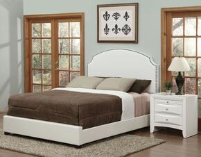 Kristina Collection 24707EKN 2 PC Bedroom Set with King Size Bed + Nightstand in Cream Color