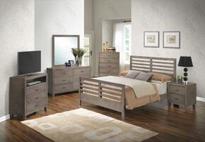 G1205CQB2NTV 3 Piece Set including Queen Bed, Nightstand and Media Chest in Gray