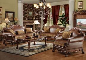 15160SLCCET Dresden Sofa + Loveseat + Chair + Coffee Table + 2 End Tables in Cherry Oak Finish
