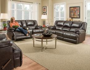 Bingo 50451BR-656316 3 Piece Set including  Motion Sofa, Loveseat and Recliner  With Stitched Detailing in Brown