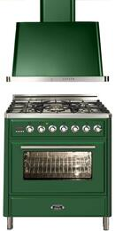 2-Piece Emerald Green Kitchen Package with UMT76DMPVS 30