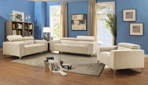 G334SET 3 PC Living Room Set with Sofa + Loveseat + Armchair in Beige Color