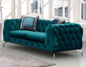 Cosmos Furniture AIDENLOVESEATGREENVELVET