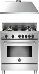 "2-Piece Stainless Steel Kitchen Package with MAS304DFSXT 30"" Natural Gas Dual-Fuel Range and KU30PRO1XV 30"" 400 CFM Range Hood"