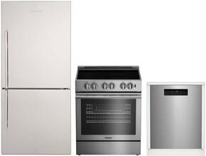 "3-Piece Kitchen Package with BRFB1812SSN 30"" Bottom Freezer Refrigerator, BDFP34550SS 30"" Slide-in Electric Range, and a free DWT25502SS 24"" Built In Full Console Dishwasher in Stainless Steel"