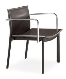 404143SET Gekko Collection Set of 2 Modern Conference Chairs in Espresso