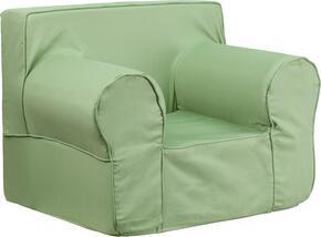 Flash Furniture DGLGECHKIDSOLIDGRNGG