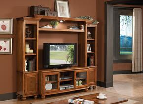 Dita 91098SET Entertainment Center Set with TV Stand + Entertainment Center in Light Oak Finish