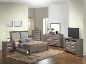 G1505DDFSB2NTV2 3 Piece Set including Full Size Bed, Nightstand and Media Chest  in Gray