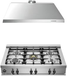 "2-Piece Stainless Steel Kitchen Package with CB36M500XLP 36"" Liquid Propane Rangetop and KU36PRO1X14 36"" Range Hood"