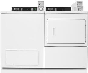 White Commercial Laundry Pair with MVW18PDBWW 27
