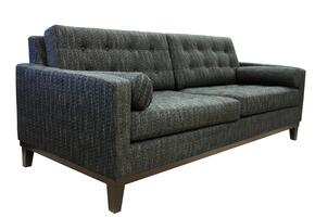 LC725CH2PCSETSL Centennial 2 Piece Livingroom Set, Sofa and Loveseat with Mid-century Design, Button-tufting Detail and Fabric Upholstery in Charcoal