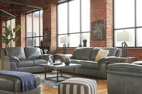 Islebrook Collection 1520238SLCO 4 PC Living Room Set with Sofa + Loveseat + Armchair + Ottoman in Iron Color