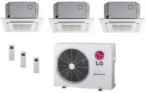 LMU24CHVPACKAGE31 Triple Zone Mini Split Air Conditioner System with 33000 BTU Cooling Capacity, 3 Indoor Units, Outdoor Unit, and 3 PT-UQC Grille Kits