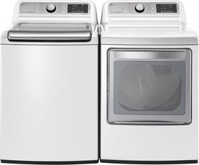 White Top Load Laundry Pair with WT7600HWA 27