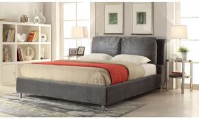 Bywilde 25257EK2PC Bedroom Set with Eastern King Size Bed + 2 End Tables in Dark Olive Grey Color