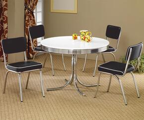 2388SETBLACK Cleveland Dining 5 PC Set (Table and 4 Side Chairs)in Black