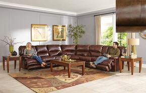 Austin Collection 4205-8-9-1166-09/1266-09 3-Piece Sectional with Reclining Sofa, Wedge and Reclining Loveseat in Chocolate