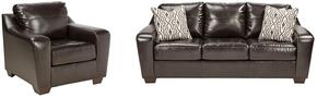 Coppell DuraBlend Collection 59001SC 2-Piece Living Room Set with Sofa and Living Room Chair in Chocolate