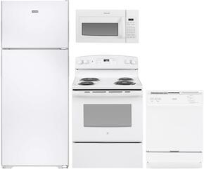 4-Piece White Kitchen Package with HPS18BTHWW 36