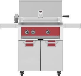 "30"" Liquid Propane with ECD30RD Tower Grill Cart with Two Doors, in Matador Red"