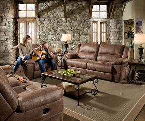 Phoenix 50111BR-5363195  3 Piece Set including Double Motion Sofa, Loveseat and Recliner  with  PU Leather Upholstery in Mocha
