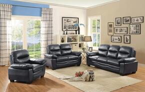 G677SET 3 PC Living Room Set with Sofa + Loveseat + Armchair in Black Color
