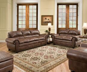 Padre 7510-03020109 4 Piece Set including  Sofa, Loveseat, Chair and Ottoman with Nail Head Accents in Espresso
