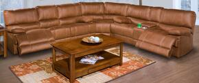 2030930CYBSEC Montana Three Piece Reclining Sectional with Sofa, Loveseat and Wedge, in Brown
