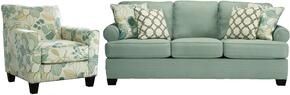 Daystar Collection 28200SC 2-Piece Living Room Set with Sofa and Accent Chair in Seafoam