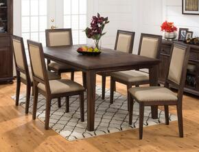 678-78SET2 Geneva Hills Recatagle Dining Table with 6 Upholstered Chairs