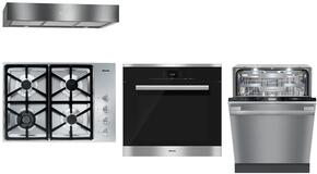 4-Piece Stainless Steel Kitchen Package with KM3464LP 30