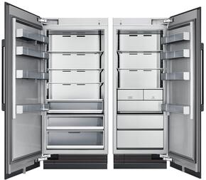 "66"" Panel Ready Side-by-Side Column Refrigerator Set with DRZ30980RAP 30"" Right Hinge Freezer and DRR36980LAP 36"" Left Hinge Refrigerator"