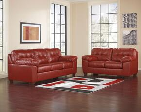 Alliston Collection 20100SL 2-Piece Living Room Set with Sofa and Loveseat in Salsa
