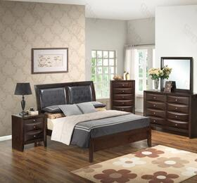 G1525ATBDMN 4 Piece Set including Twin Size Bed, Dresser, Mirror and Nightstand in Cappuccino